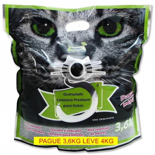 Areia Sanitária Higiênica Para Gatos Pet Mais Premium 3,6kg