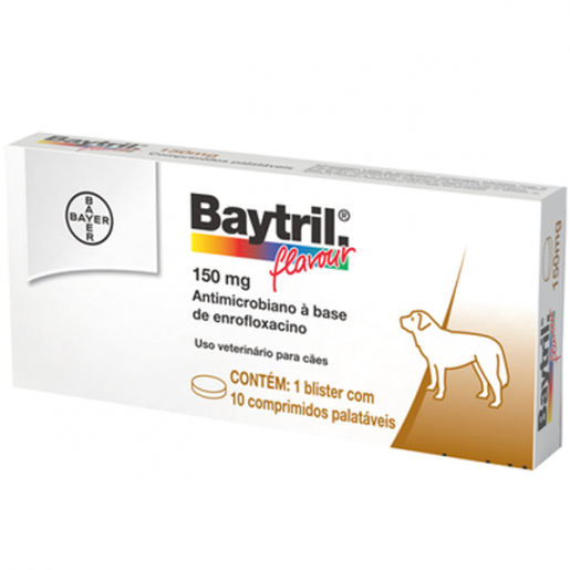 Baytril Flavour 150mg - 10 Comprimidos