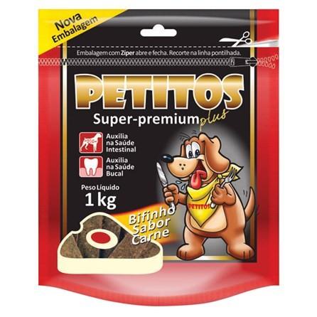 Bifinho Petitos Super Premium Sabor Carne 1kg