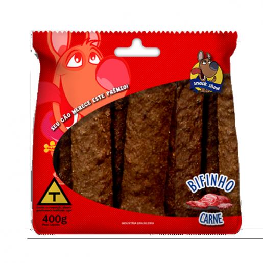 Bifinho Snack Show Sabor Carne 400g