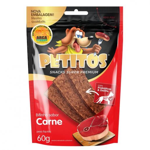 Bifinhos Super Premium Petitos Carne Cachorros 60g