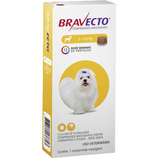 Bravecto Antipulgas e Carrapatos Cachorros 2 a 4,5kg