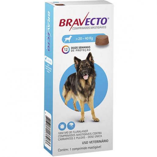 Bravecto Antipulgas e Carrapatos Cachorros de 20 a 40kg