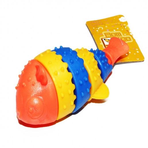 Brinquedo Para Cães Mordedor Peixe de Borracha