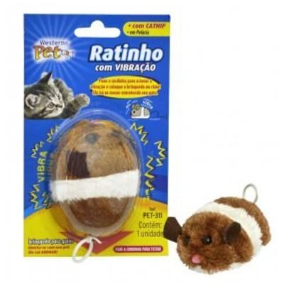 Brinquedo Ratinho com Vibração Para Gatos
