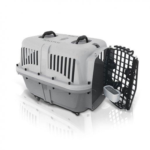 Caixa De Transporte Cargo Cães Gatos nº 3 + Brinde 3 Tapetes Higiênicos