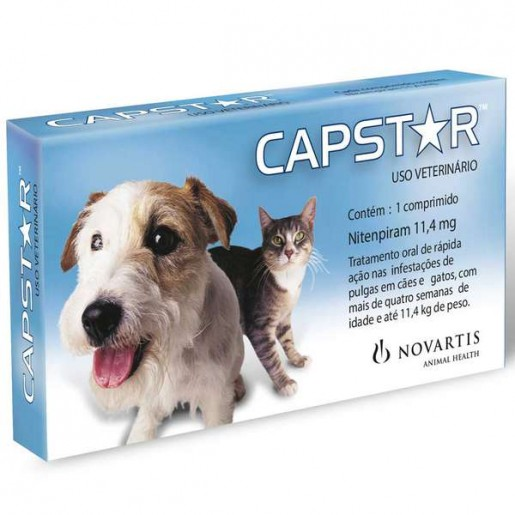 Capstar 11,4mg (Cães e Gatos até 11,4 kg) 1 Comprimido