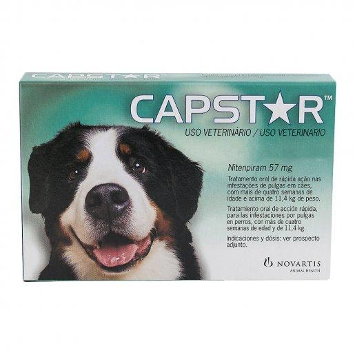 Capstar 57mg (Cães Acima de 11,4 kg) 1 Comprimido