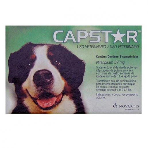 Capstar 57mg (Cães Acima de 11,4 kg) 6 Comprimidos