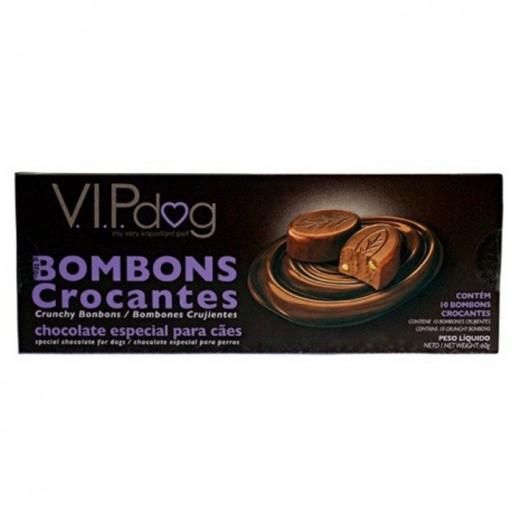 Chocolate Para Cães Vip Dog Bombons Crocantes 120g