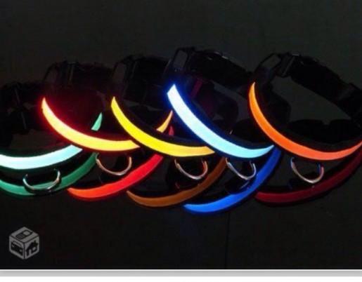 Coleira Com LED na COR VERDE 50cm x 2,5cm com 3 Modos de Luz