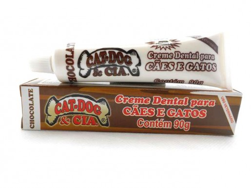Creme Dental Cat-Dog Sabor Chocolate Cães e Gatos 90g