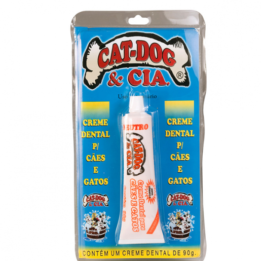 Creme Dental Cat-Dog Neutro Cães e Gatos 90g