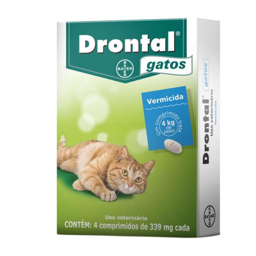 Drontal Gatos com 4 Comprimidos