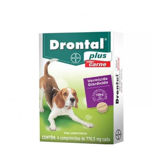 Drontal Plus Cães Sabor Carne com 4 Comprimidos