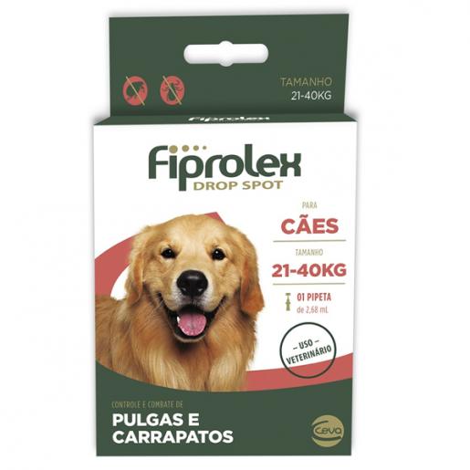 Fiprolex Antipulgas e Carrapatos - Cães de 21 a 40kg