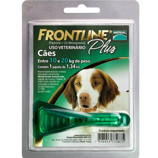 Frontline Plus Cães M - De 10 a 20kg