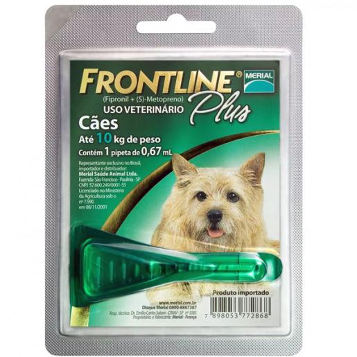 Frontline Plus Cães P - Até 10kg