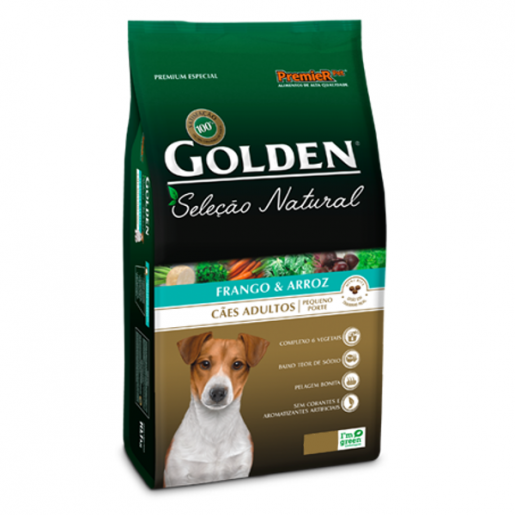 Ração Golden Seleção Natural Frango e Arroz Cachorros Mini Bits 10,1kg