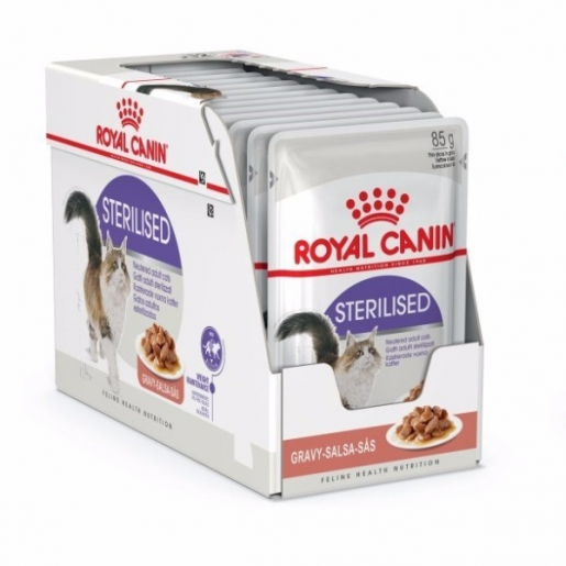 Kit 12 Sachê Royal Canin Gatos Sterilised Castrados Sachê 85g