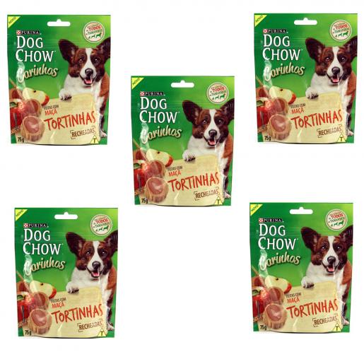 Kit 5 Dog Chow Carinhos Torta de Maçã 75g