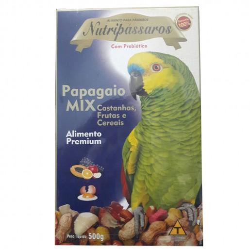 Mistura Nutripássaros Mix Para Papagaio 500g
