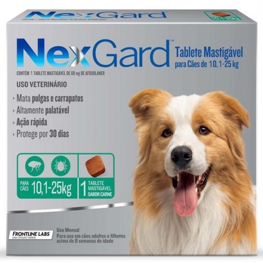 NexGard Antipulgas e Carrapatos Cães 10,1 a 25kg