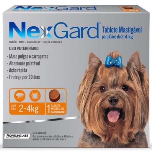 NexGard Antipulgas e Carrapatos Cães 2 a 4kg