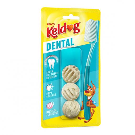 Osso Keldog Dental Bolinha com 3 unid 50g