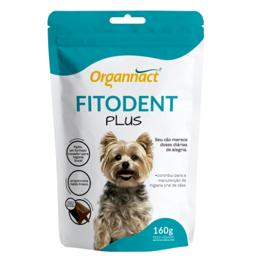 Palitos Higiene Bucal Cachorros Fitodent Plus Organnact 160g