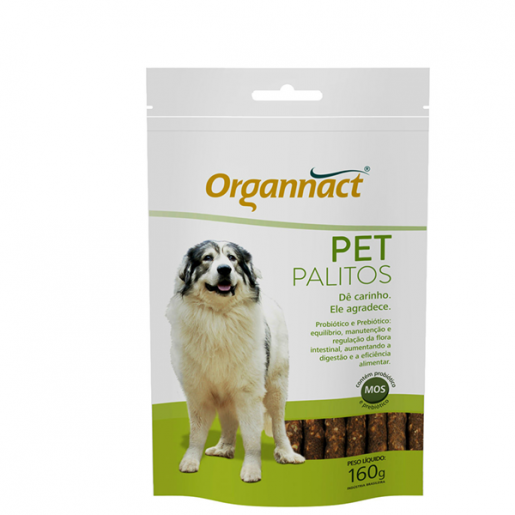 Pet Palitos Sachê Organnact Regula a Flora Intestinal 160g