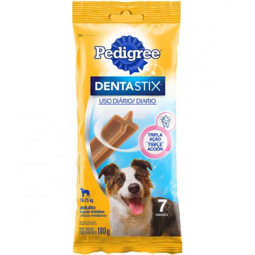 Petisco Osso Dentastix Pedigree Cachorros Raças Médias 7 unidades 180g