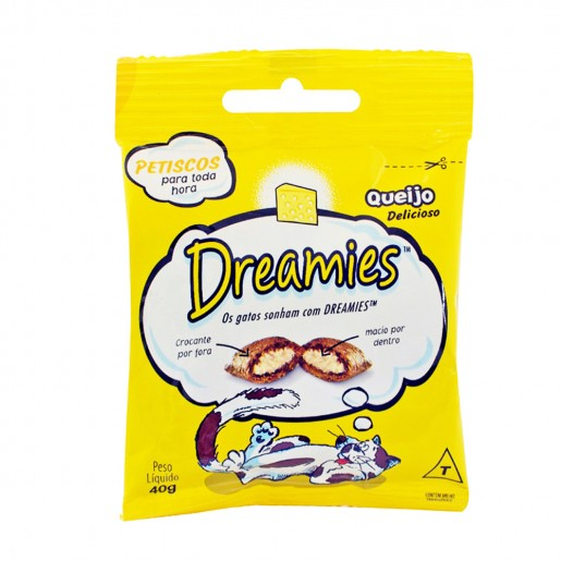Petisco Snacks Dreamies Para Gatos Sabor Queijo 40g