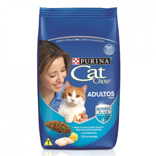Ração Cat Chow Adultos Peixes 1kg