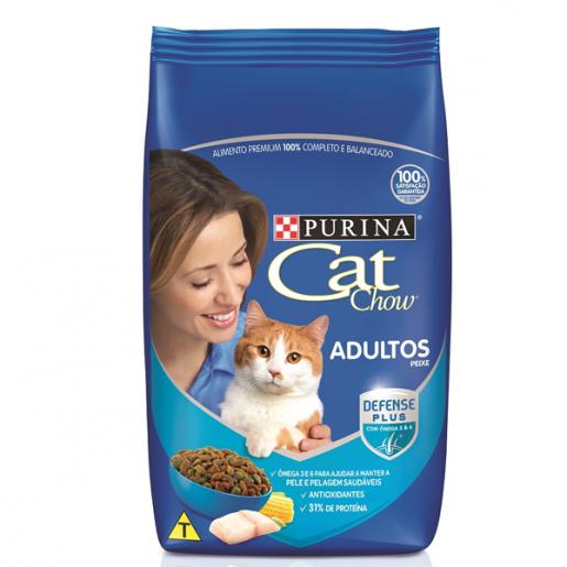 Ração Cat Chow Adultos Peixes 3kg