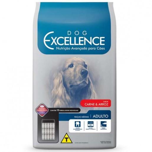 Ração Dog Excellence Adulto Raças Médias Carne e Arroz 15kg