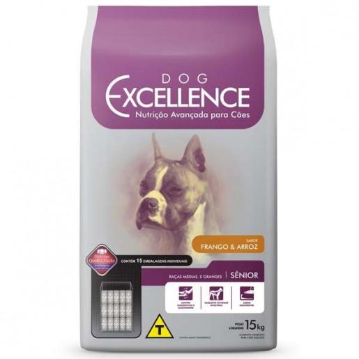 Ração Dog Excellence Senior Raças Grandes e Médias Frango e Arroz 15kg