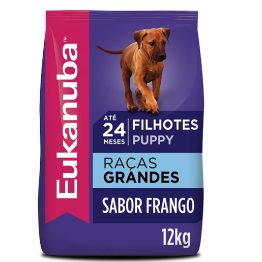 Ração Eukanuba Cães Filhotes Raças Grandes 12kg