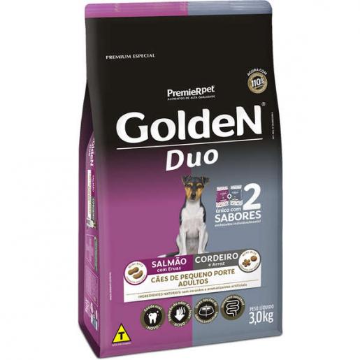 Ração Golden Duo Cachorros Adultos Salmão e Cordeiro Mini Bits 3kg