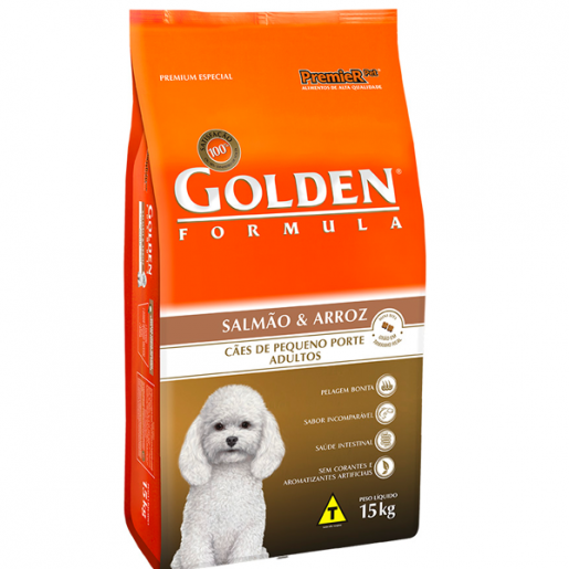 Ração Golden Fórmula Adulto Mini Bits Salmão e Arroz 15kg