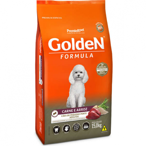 Ração Golden Fórmula Cachorros Adultos Carne e Arroz Mini Bits 15kg