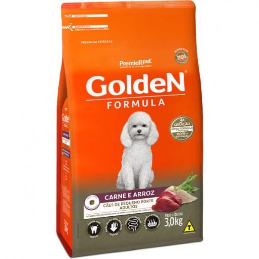 Ração Golden Fórmula Cachorros Adultos Carne e Arroz Mini Bits 3kg