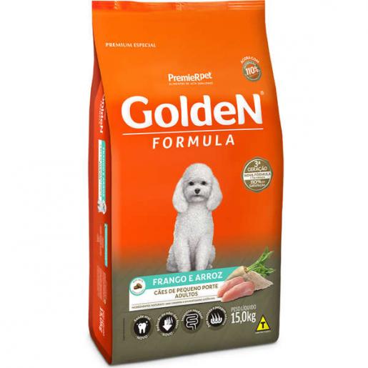 Ração Golden Fórmula Cachorros Adultos Frango e Arroz Mini Bits 15kg