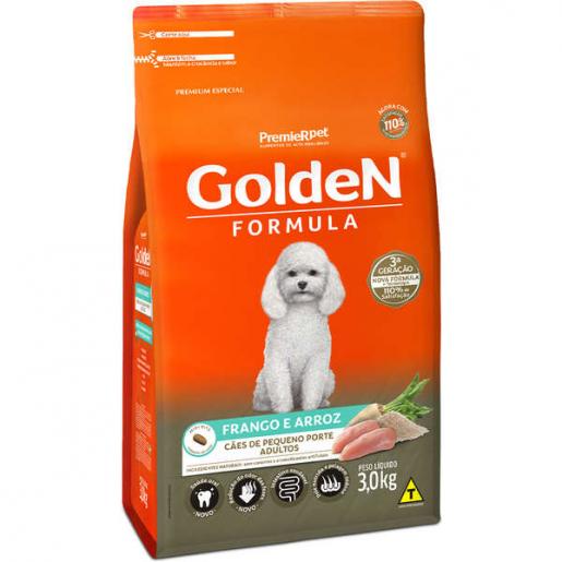 Ração Golden Fórmula Cachorros Adultos Frango e Arroz Mini Bits 3kg