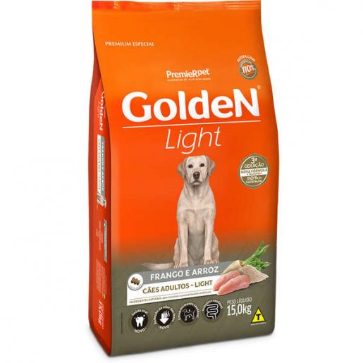 Ração Golden Fórmula Cachorros Adultos Light Frango e Arroz 15kg