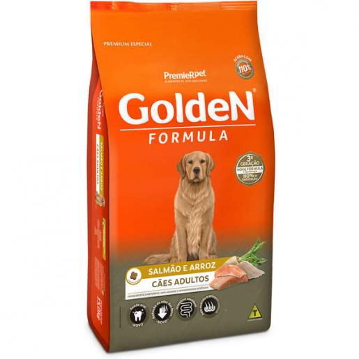 Ração Golden Fórmula Cachorros Adultos Salmão e Arroz  3kg