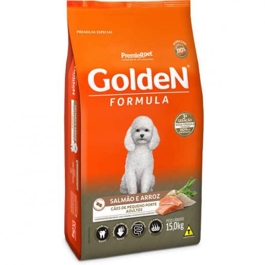 Ração Golden Fórmula Cachorros Adultos Salmão e Arroz Mini Bits 15kg
