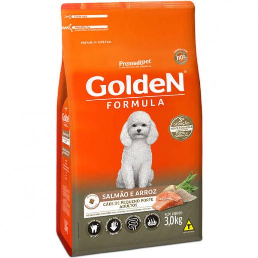 Ração Golden Fórmula Cachorros Adultos Salmão e Arroz Mini Bits 3kg