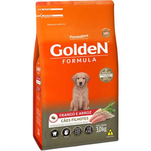 Ração Golden Fórmula Cachorros Filhotes Frango e Arroz 3kg