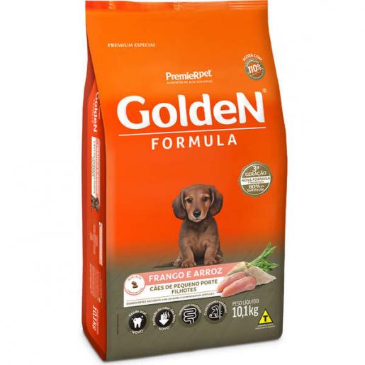Ração Golden Fórmula Cachorros Filhotes Frango e Arroz Mini Bits 10,1kg